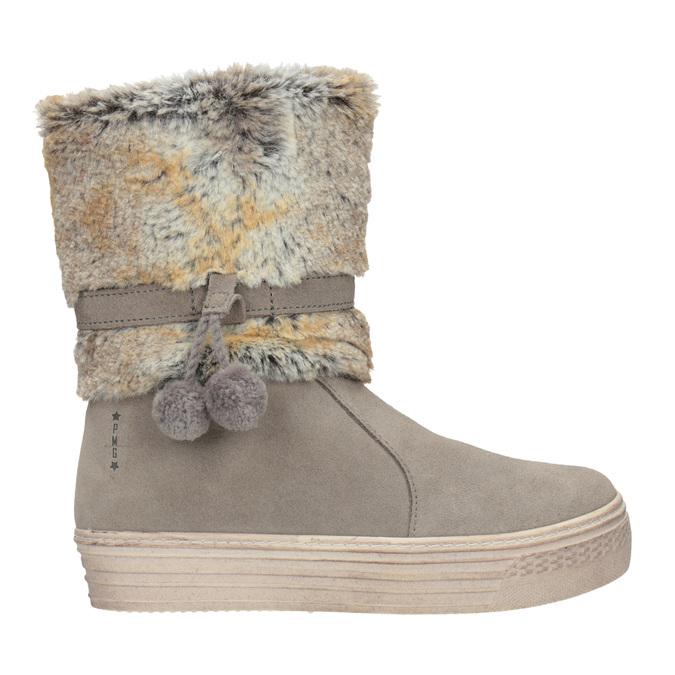 Children's winter boots with fur primigi, beige , 393-8015 - 26