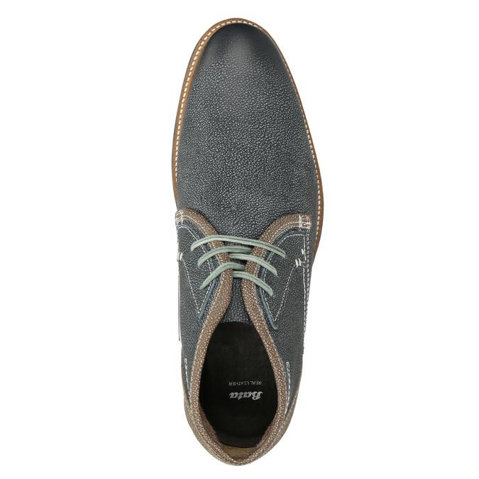 Men's leather ankle boots bata, blue , 826-9920 - 15