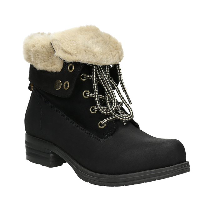 Ankle Boots with Fleece bata, black , 591-6618 - 13