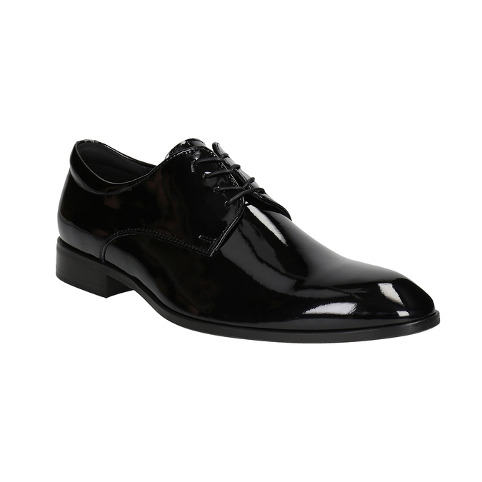 Men's patent leather shoes conhpol, black , 828-6605 - 13
