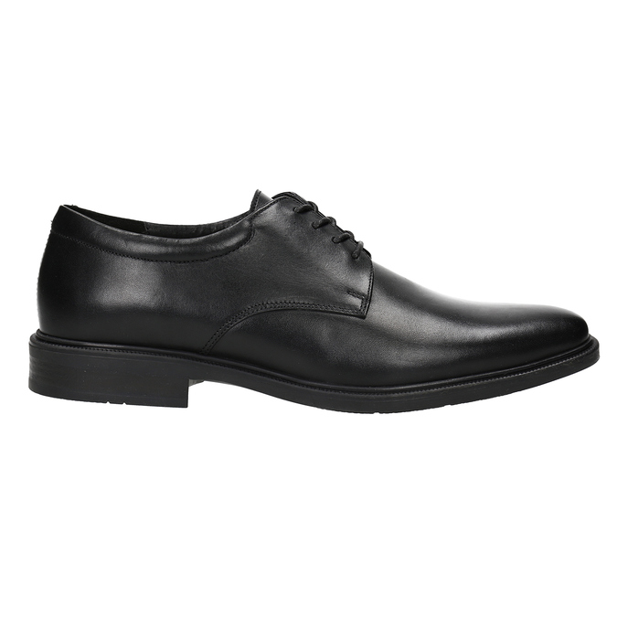 Men's Leather Derby Shoes climatec, black , 824-6941 - 26