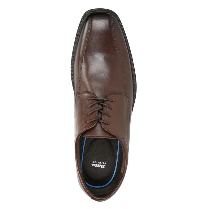Men's Leather Shoes with Stitching climatec, brown , 824-4986 - 15