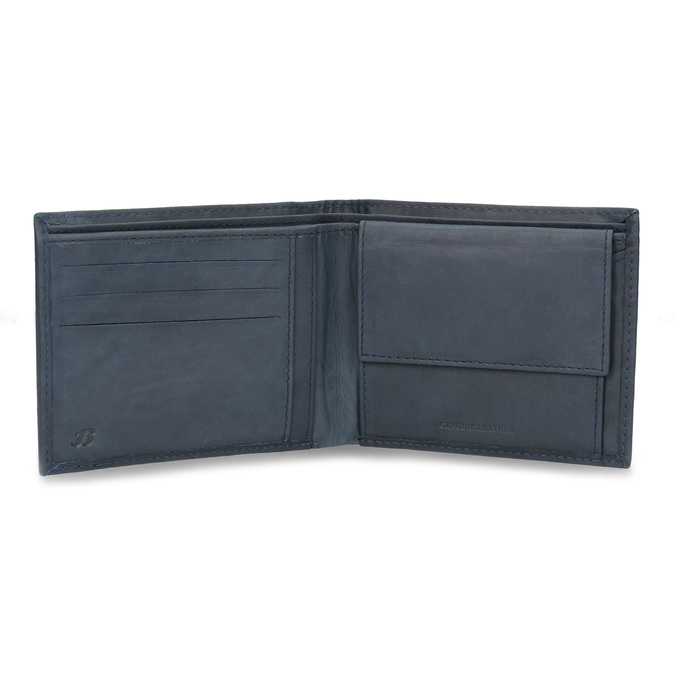 Men's leather wallet bata, blue , 944-9188 - 15