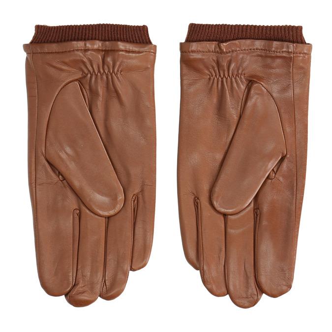Brown leather gloves bata, brown , 904-3117 - 16