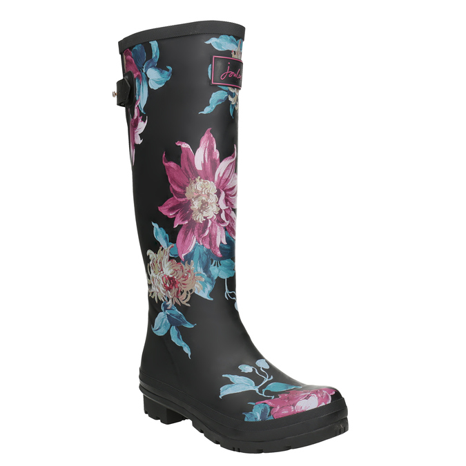 Ladies' Wellingtons with Flowers joules, black , 502-6035 - 13