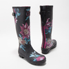 Ladies' Wellingtons with Flowers joules, black , 502-6035 - 26