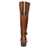 Brown Leather High Boots bata, brown , 596-4665 - 17