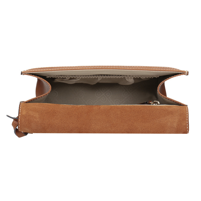 Brown Leather Crossbody Bag picard, brown , 966-3051 - 15