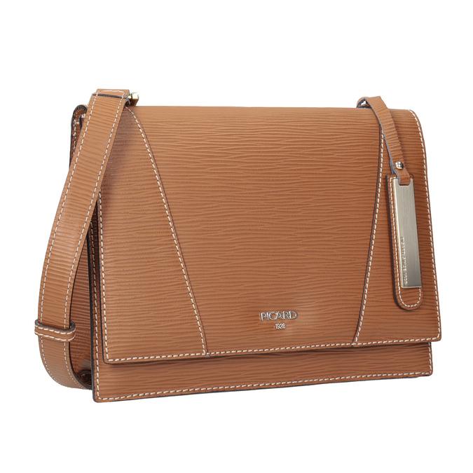 Brown Leather Crossbody Bag picard, brown , 966-3051 - 13