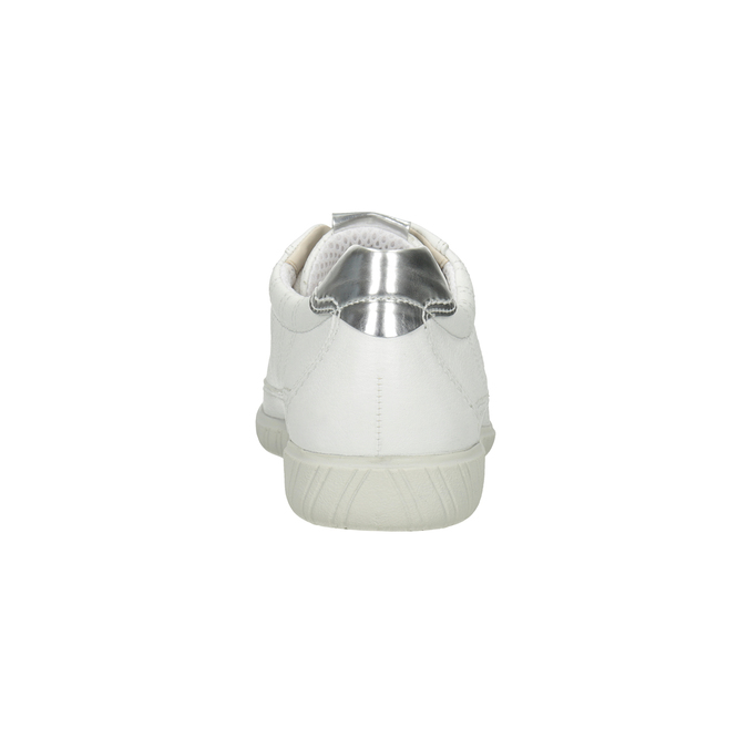 White leather sneakers gabor, white , 626-1204 - 16
