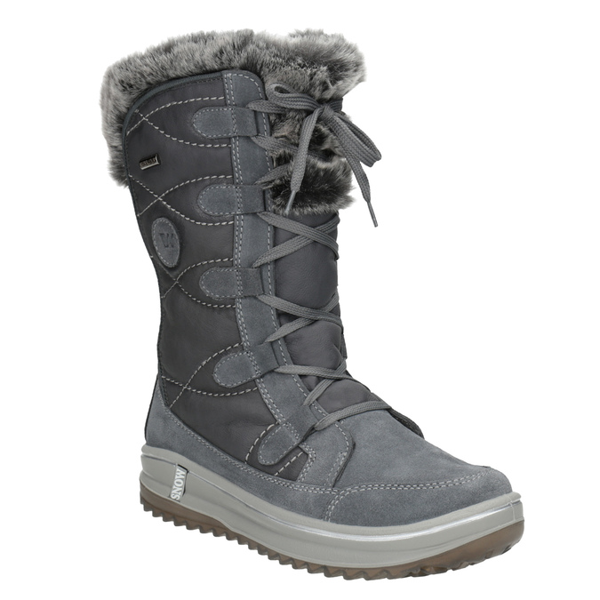 Ladies' winter boots with artificial fur weinbrenner, gray , 593-2616 - 13