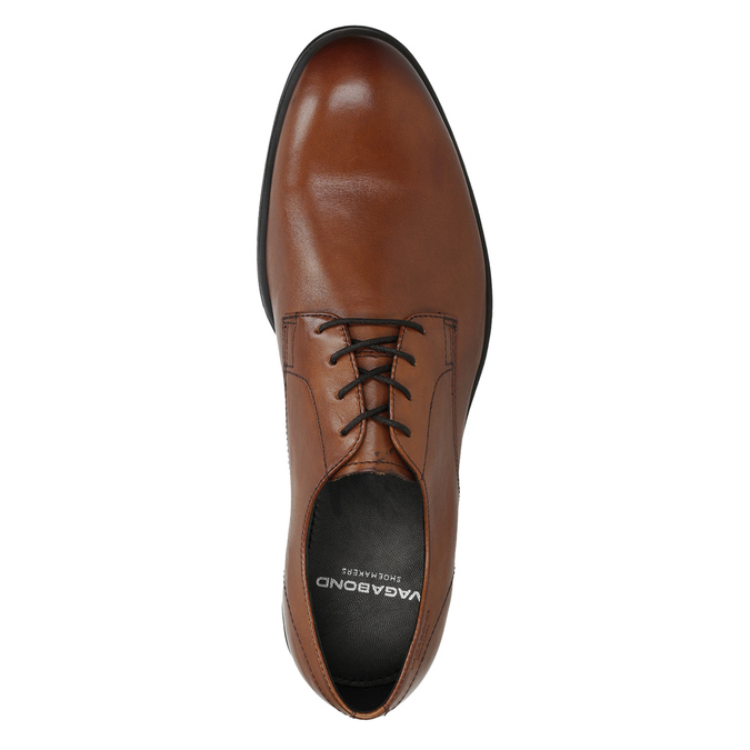 Men's leather shoes vagabond, brown , 824-3026 - 17