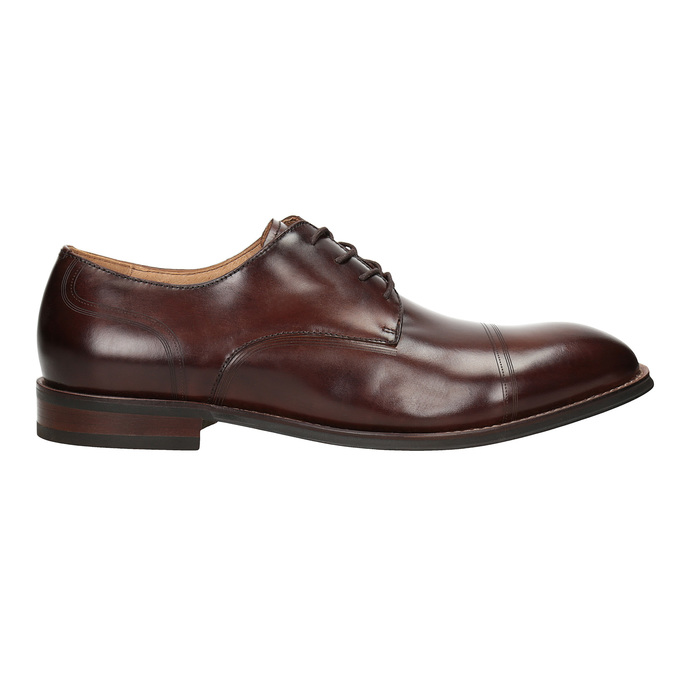 Men's brown leather shoes bata, brown , 826-4681 - 16