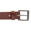 Gift pack with leather belt and wallet bata, brown , 954-3201 - 17
