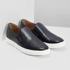 Men's Leather Slip-Ons bata, blue , 836-9601 - 26