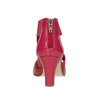 Pink leather pumps insolia, red , 624-5643 - 16