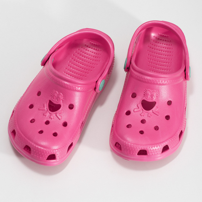 Girls' pink sandals coqui, pink , 372-5604 - 16