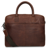 Men's leather bag with stitching, brown , 964-4139 - 16